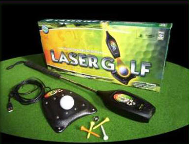 LaserGolf box, club and base unit